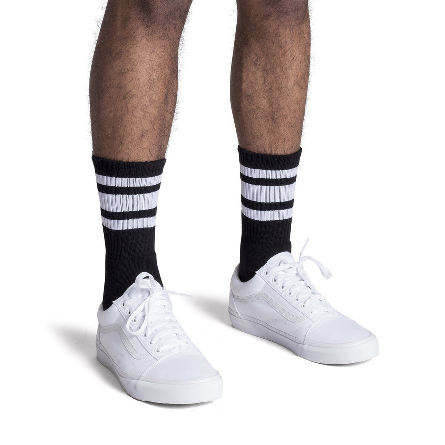 Black Socks with White Stripes - SOCCO®