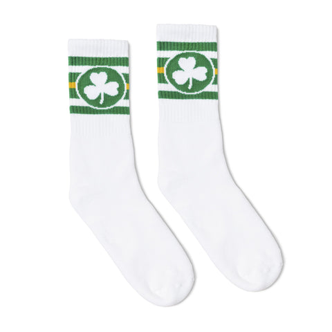 Shamrock Socks White