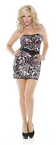 Strapless Mini Dress - Plus Size