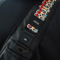 close up detail image showing an interchangeable closure strap in the doggo carrier