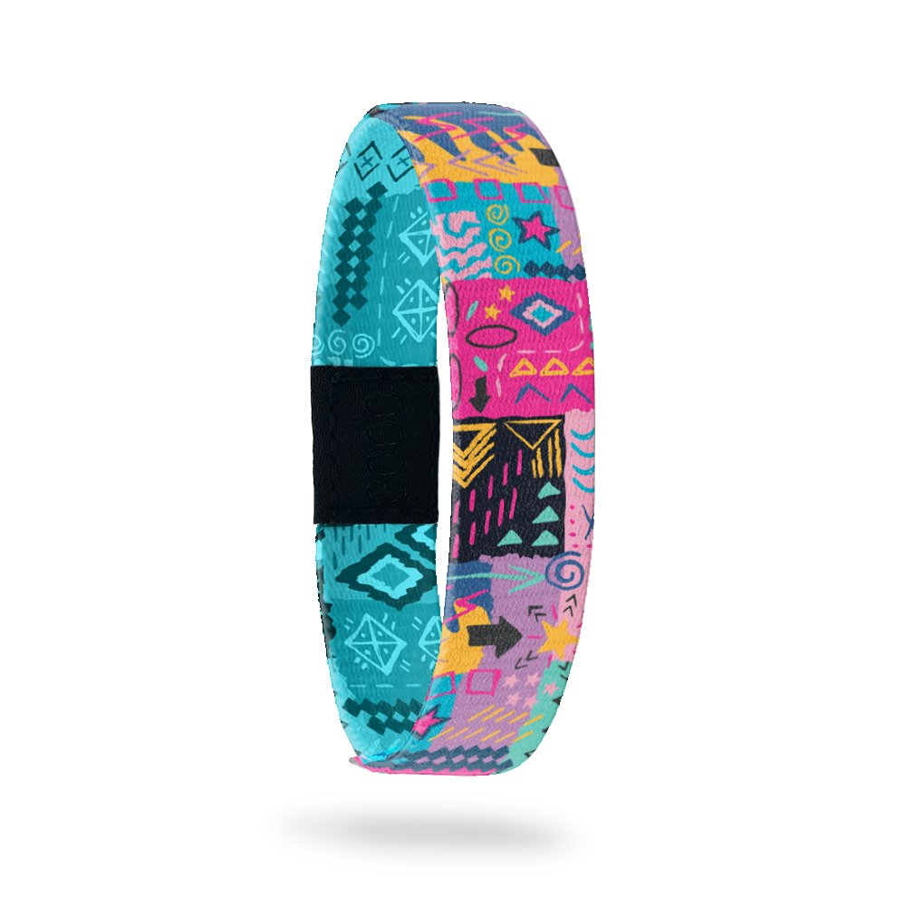 Product photo of outside design of live with joy with hand drawn geometric and abstract art