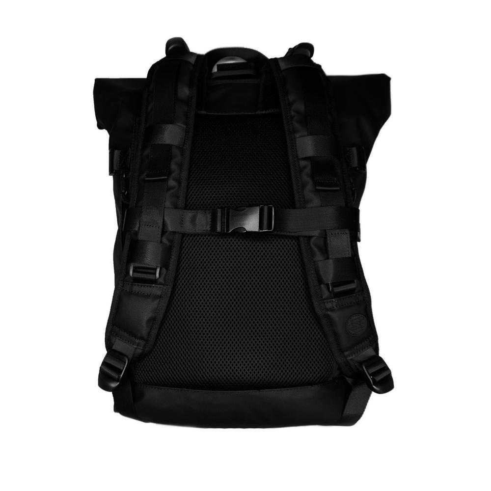 A product photo of the Imperial v2 backpack showing the back side of it with the shoulder straps and padding
