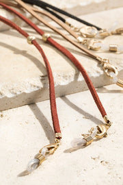 Suede Accessory Chain-Brown