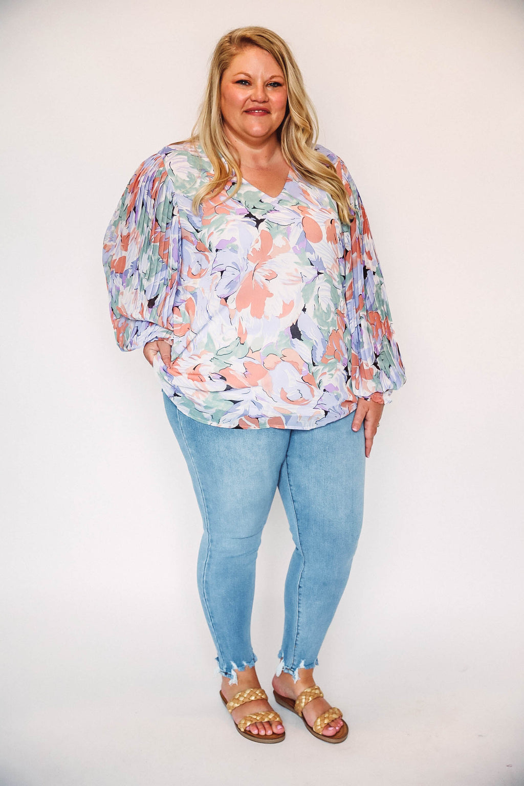 Striped Button Up Cardigan-Ruby/Ivory ES