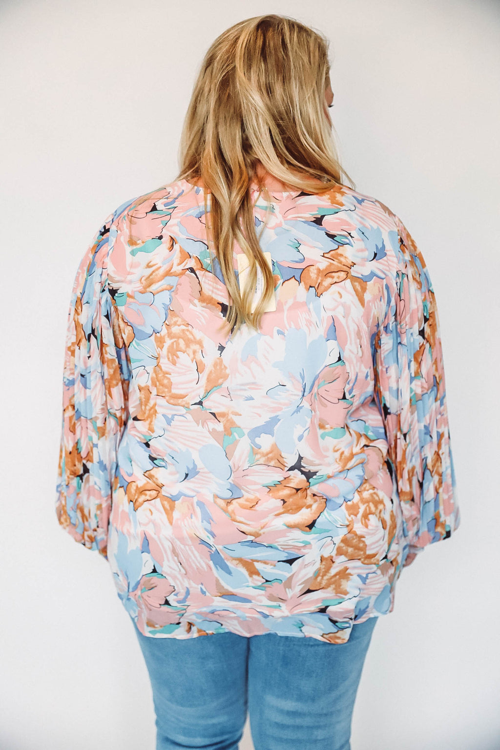 Striped Button Up Cardigan-Charcoal/Ivory Extended Sizes