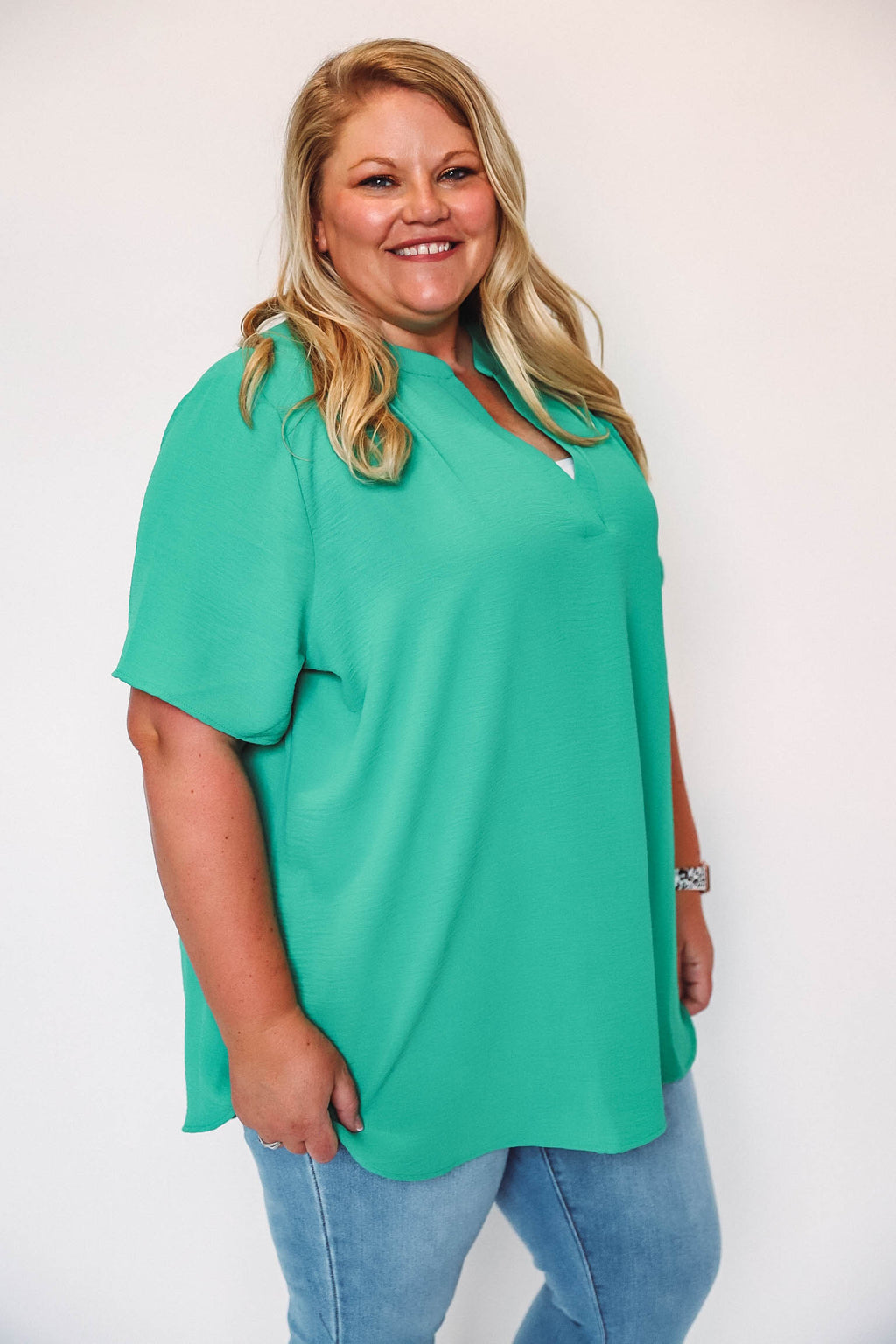 Striped Button Up Cardigan-Black/Charcoal Extended Sizes
