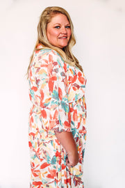Rome Color Block Sweater-Navy Lilac