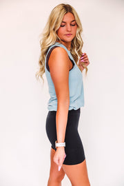 Charming Spring Top-Light Grey