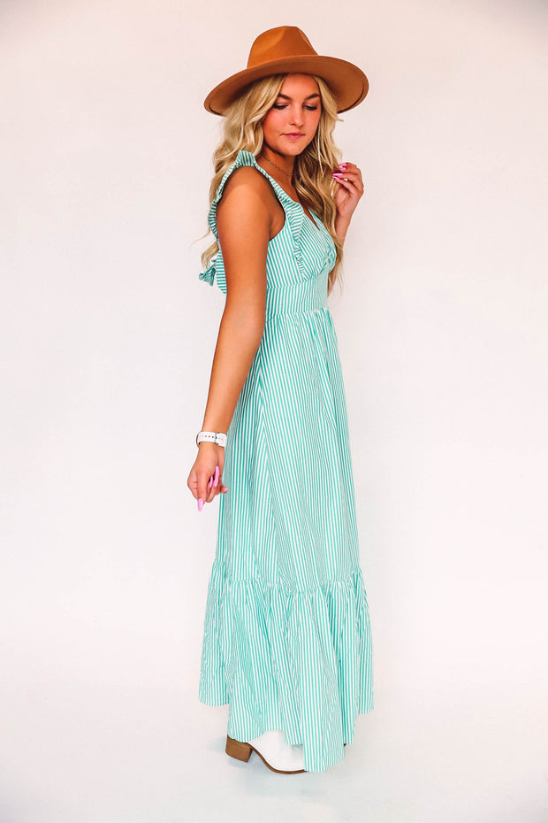 Spencer Striped Top-Ivory/Blush