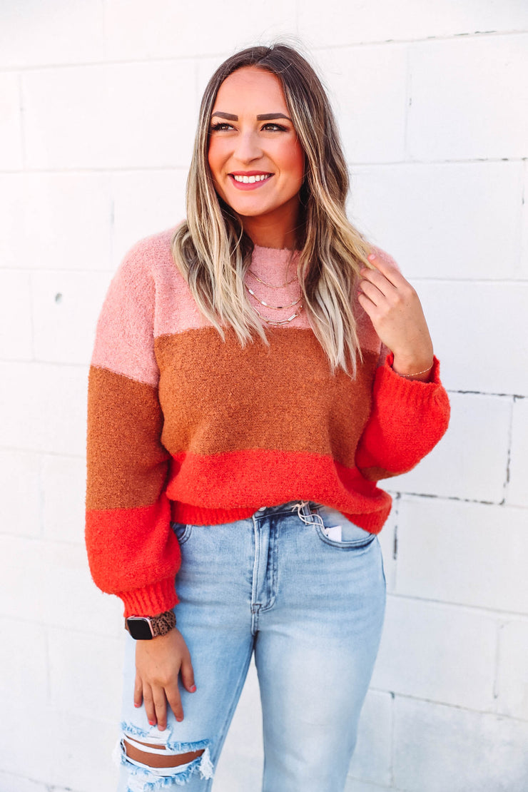 Two Tone Leather Layered Earring-Mocha