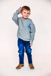 Glass Bead Horn Shaped Necklace-Black
