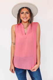 Shay Color Block Top-Fuchsia-Extended Sizes