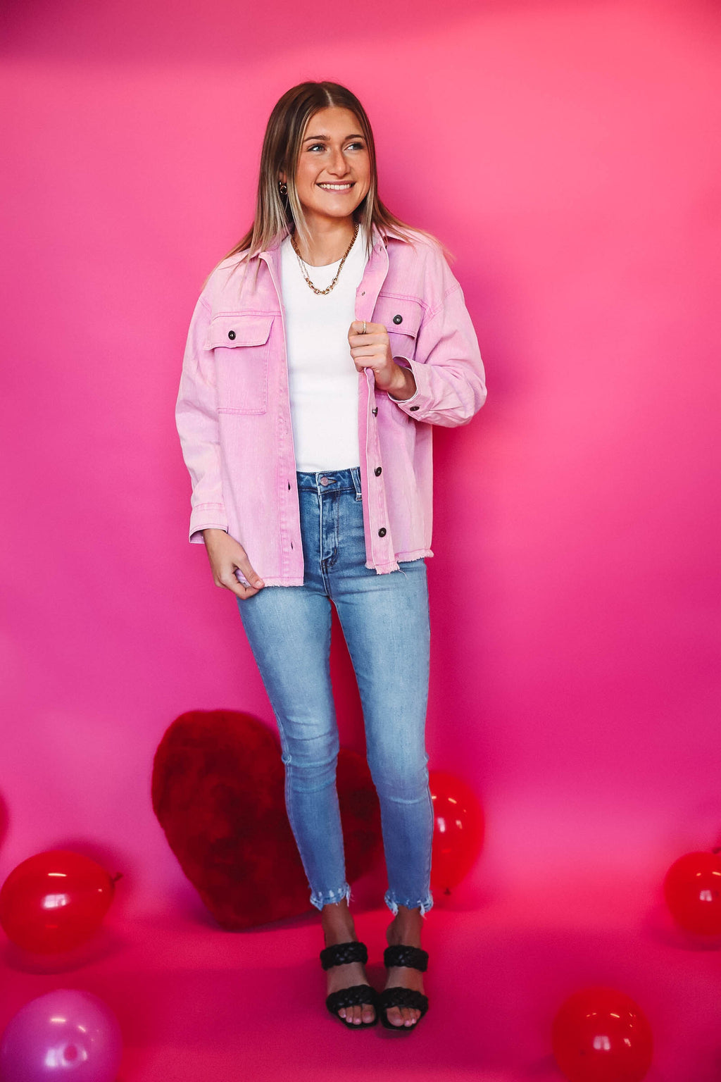 Blush Striped Scarf