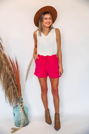 Everyday Basic Tee-Fuchsia