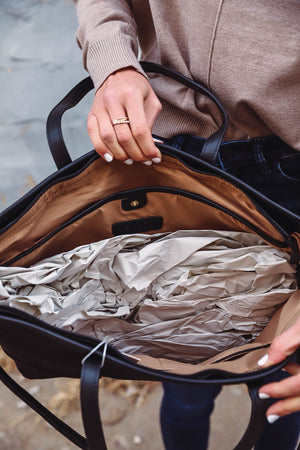 Fall Floral Top-Navy