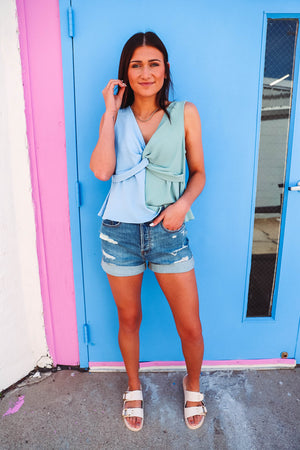 Give Me Stripes Hoodie-Extended Sizes-Grey