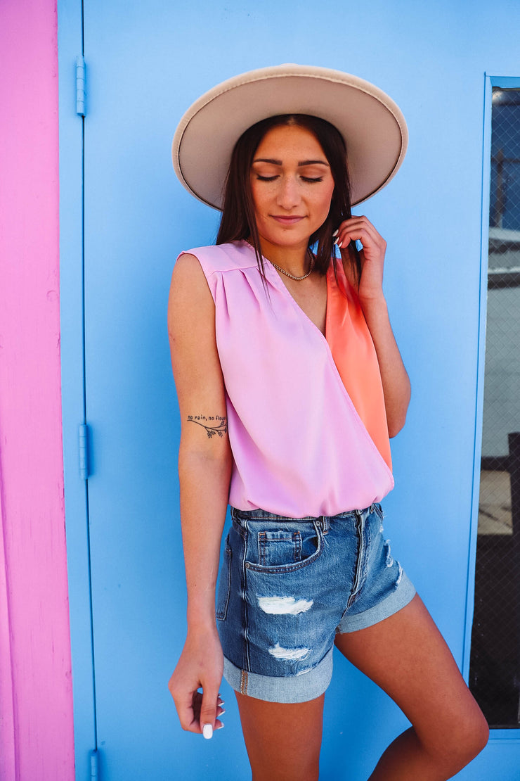 Callie Leopard Wrap Top-Extended Sizes