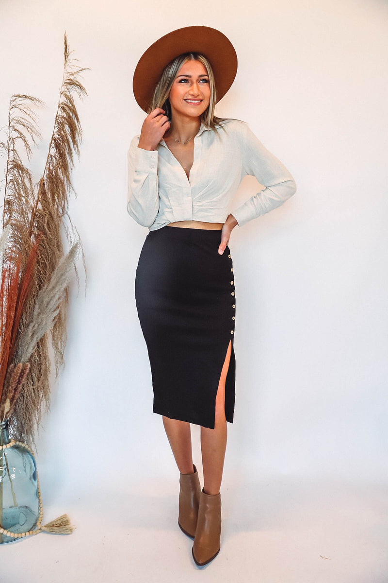 Brie Cardigan-Light Grey