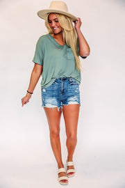 Braxton Striped Top-Black/Ivory-Extended Sizes