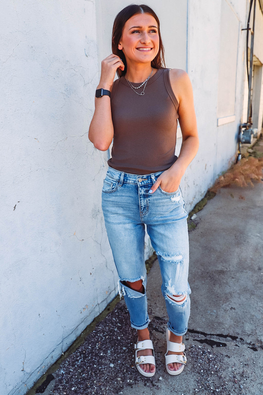 Courtney Puff Sleeve Top-Olive