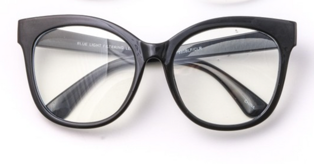 Phoebe Blue Light Glasses-Black