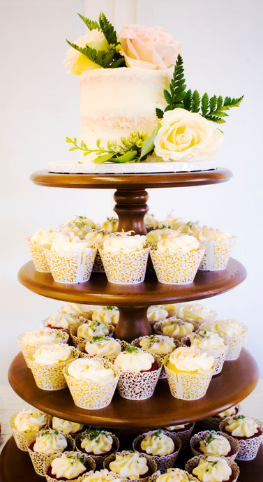 Rustic Cupcake Tower