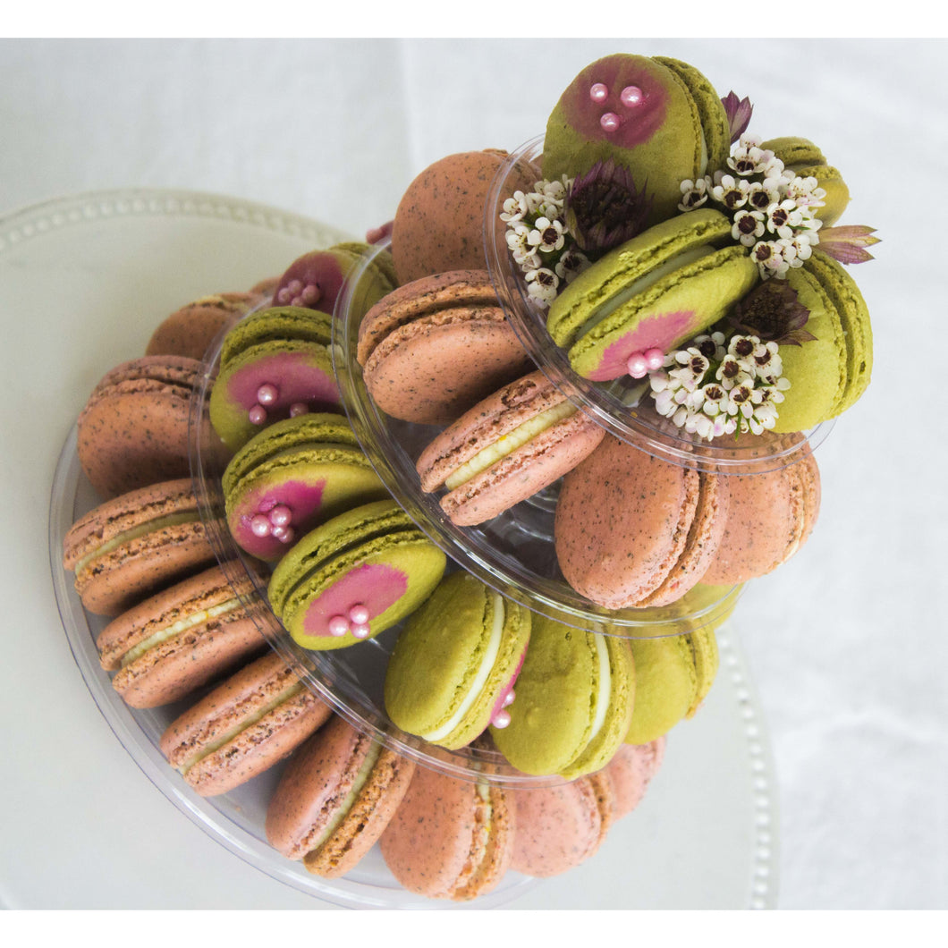 Floral Macaron Tower