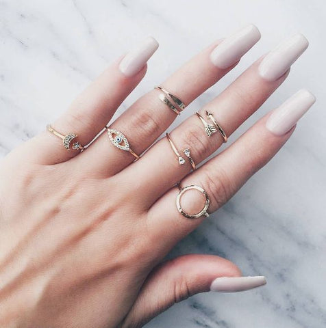 Mixed Metal Ring Stack