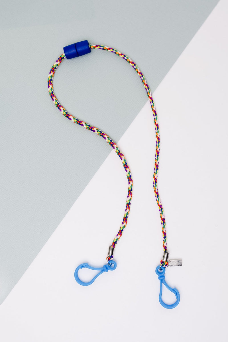 Keep Your Kids Safe Multi-Use Lanyard in Blue