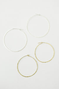 Slim & Rough Hewn Hoops