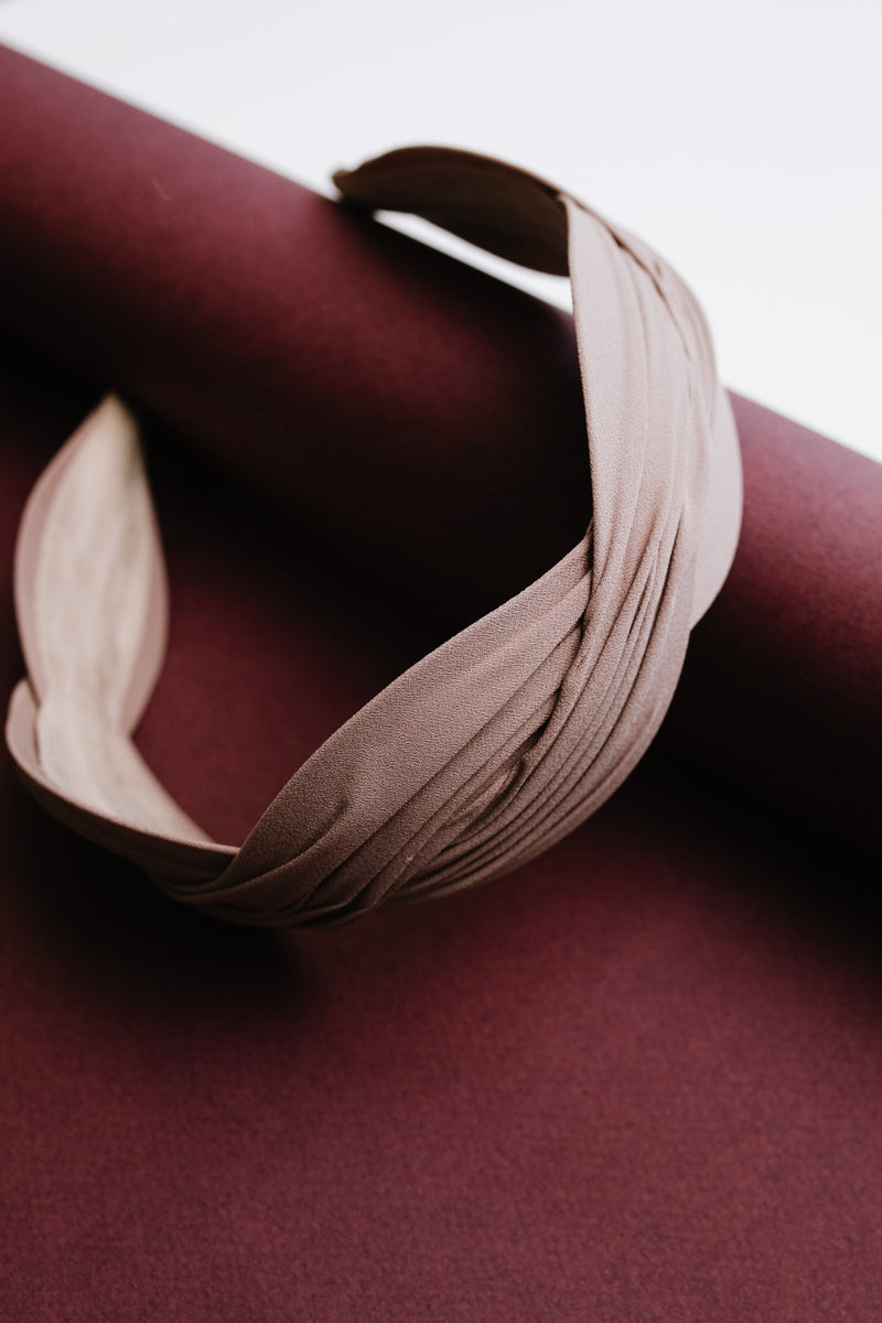 Double Dutch Headband in Taupe