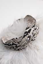 Double Dutch Headband in Snakeskin