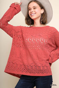 Light Cutout Sweater