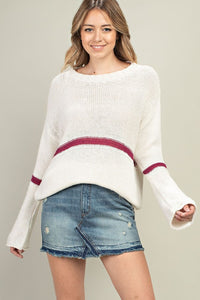 Fuchsia Stripe Sweater