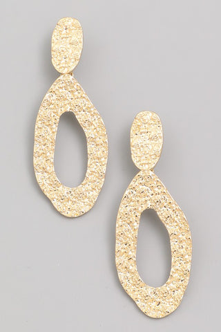 Hammered Gold Earring