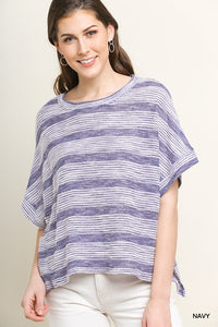 Striped Hi-Low Wash Top