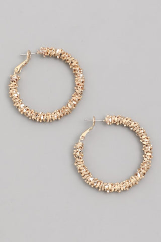 Faux Gold Bead Hoop
