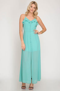 Chiffon Button Dress