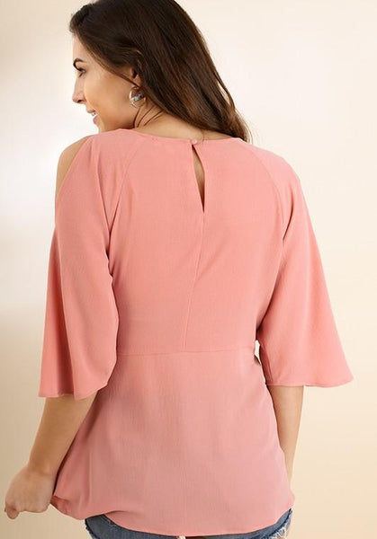 Light Mauve Wrap Top