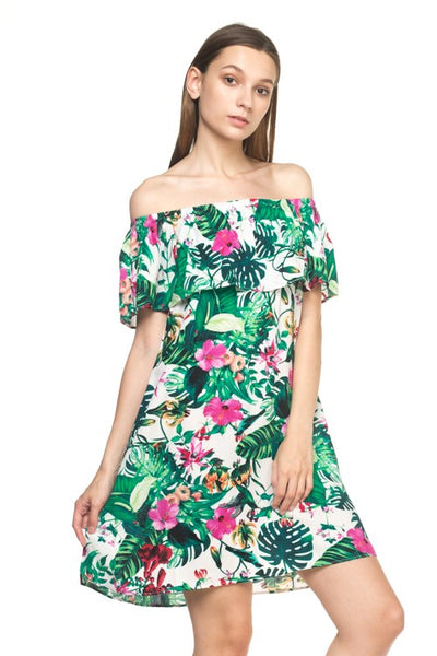 Tropical OTS Dress