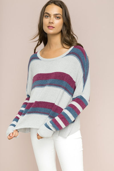 Colorblock Crop Sweater