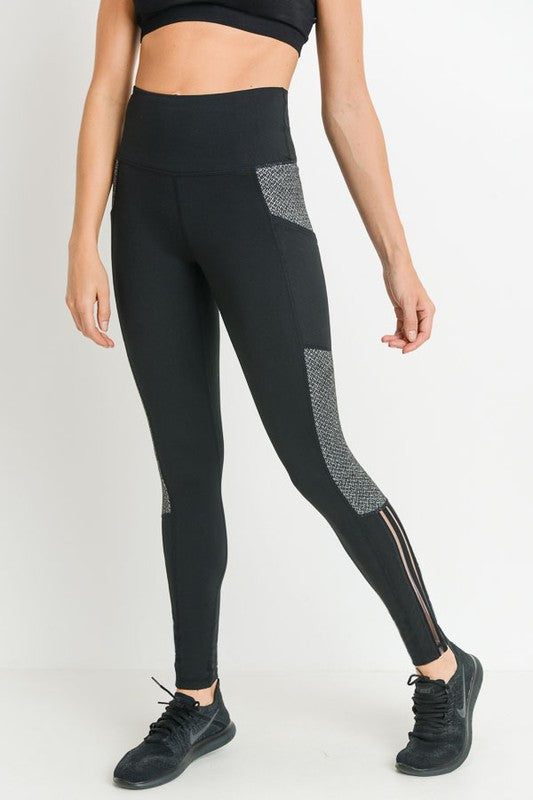 Highwaist Diamond Texture Leggings
