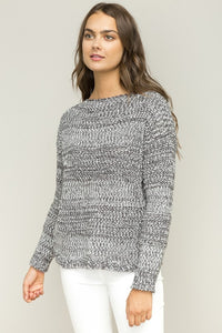 Grey Boatneck Sweater