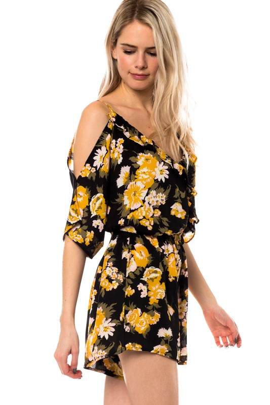 Black + Yellow Romper