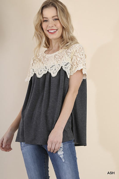 Knit Crochet Top