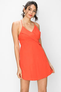 Halter Neck Button Dress
