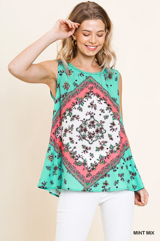 Mint Patchwork Tank