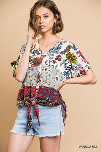 Vanilla Multiprint Blouse