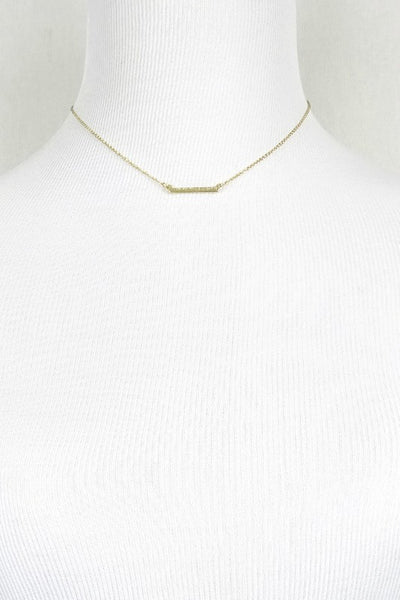 Delicate Layering Bar Necklace