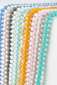 Frosted Bead Necklace (8mm)